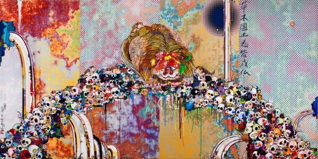 Of Chinese Lions, Peonies, Skulls, And Fountains TAKASHI MURAKAMI