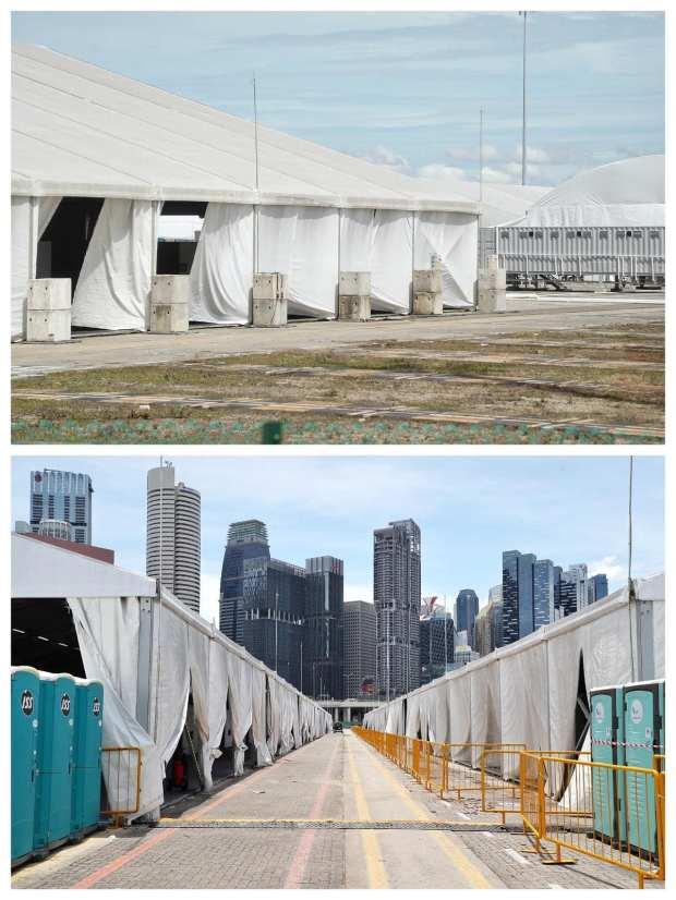 singapore white tents coronavirus